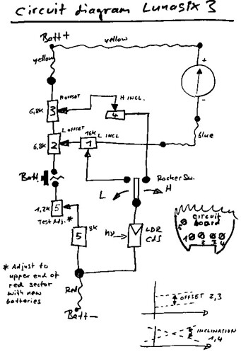 Gossen Lunasix 3 circuit diagram | by polapix