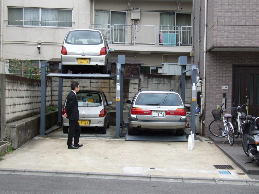 aparcamiento ascensor de coches visita
