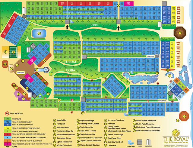 Resort Map Resort Map For The Royal Playa Del Carmen
