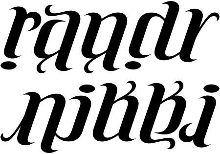 randy nikki ambigram a custom ambigram of the names flickr. Black Bedroom Furniture Sets. Home Design Ideas