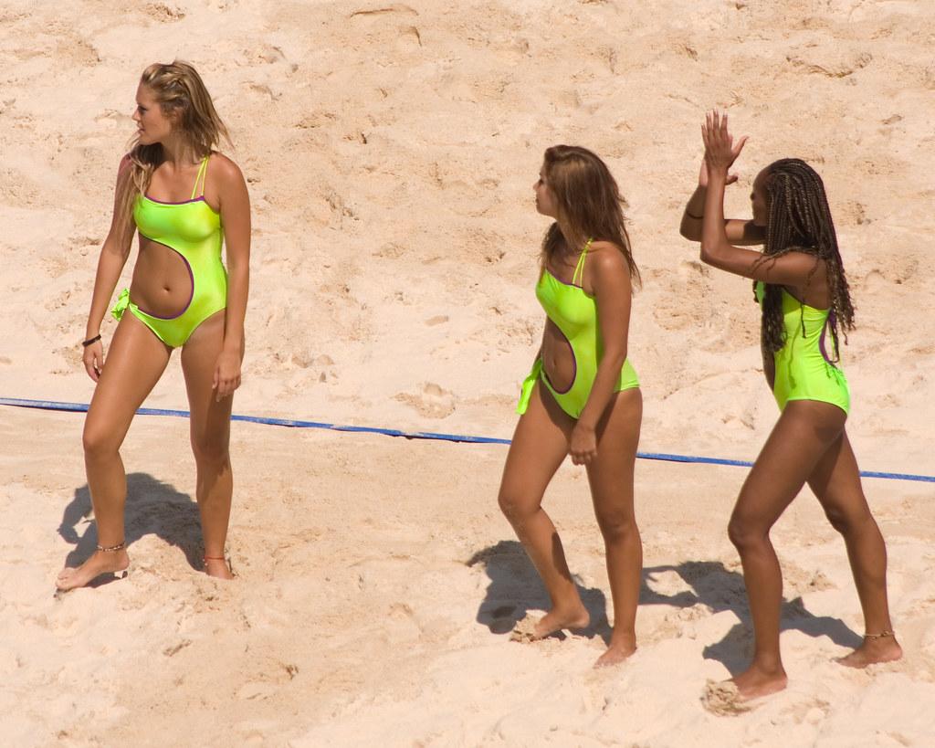 Beijing Olympic Beach Girls Beach Volleyball Cheerleaders -5949