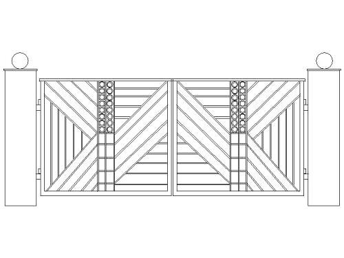 Driveway gate design contemporary cad drawing of a