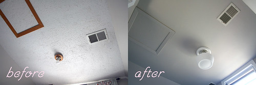 Popcorn Ceiling, Before and After | by Nicole Balch