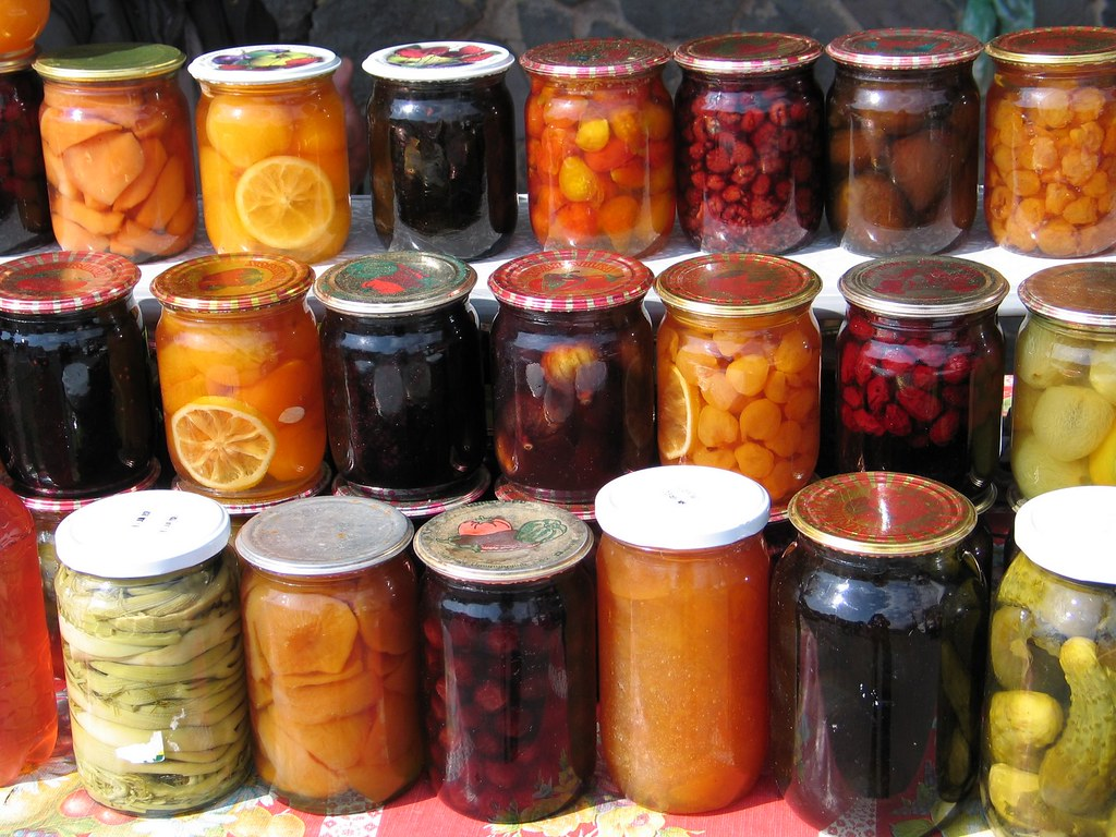 Pickles fruit preserves in jars armenia stands at any to flickr - Advice making jam preserving better ...