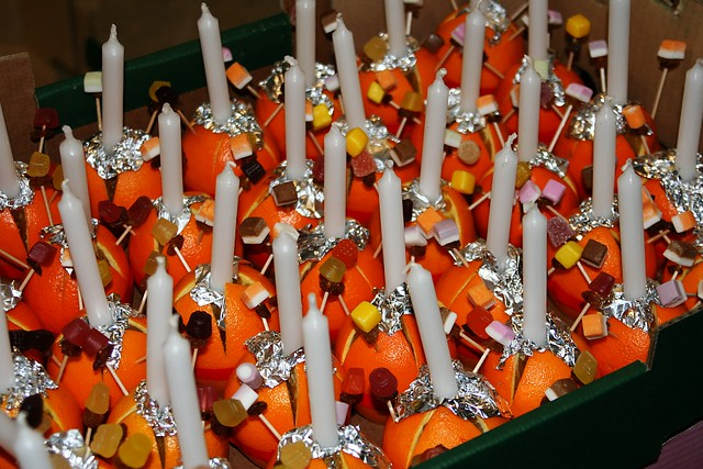 Christingles In Our Garage On Christmas Eve Just Before