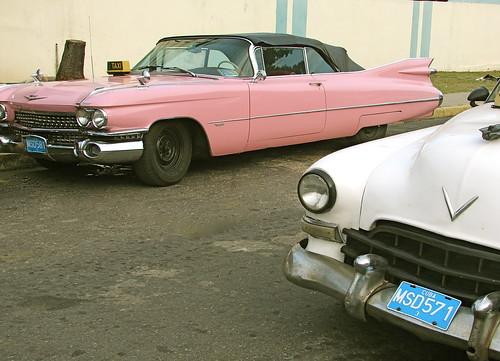 Pink Cadillac in Cuba