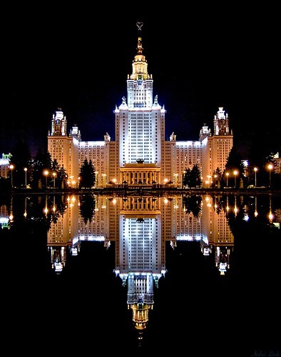 Moscow State University at night | by Andrei Linde