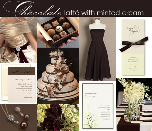 Brown And Mint Green Wedding Inspiration Board