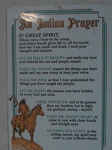 An Indian Prayer  Susan Greene  Flickr-7721