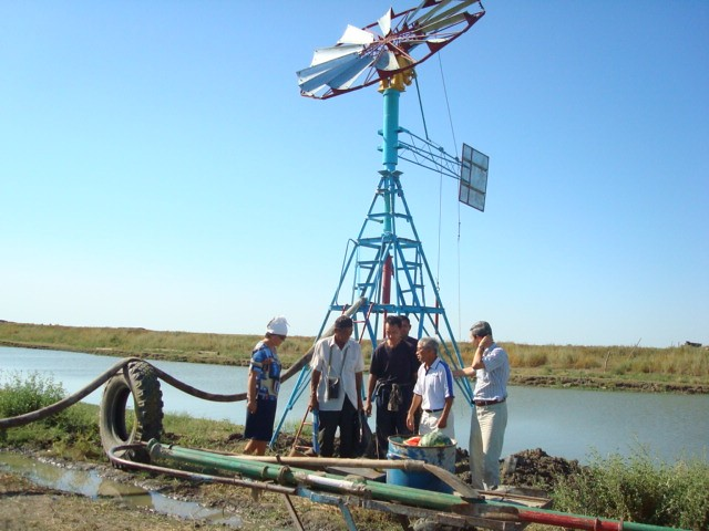 Wind Powered Water Pump Sustainable Farming In Wetlands