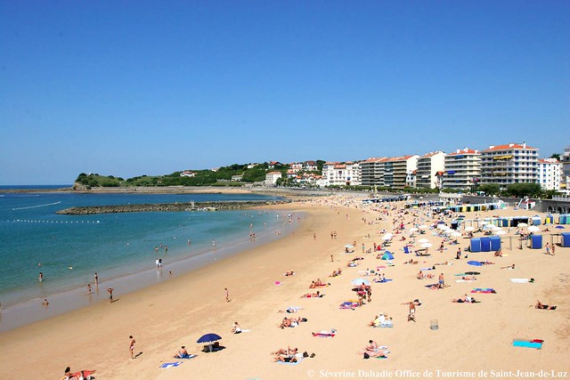 Grande plage s verine dabadie office de tourisme de saint jean de luz flickr photo sharing - Office tourisme saint jean de luz ...