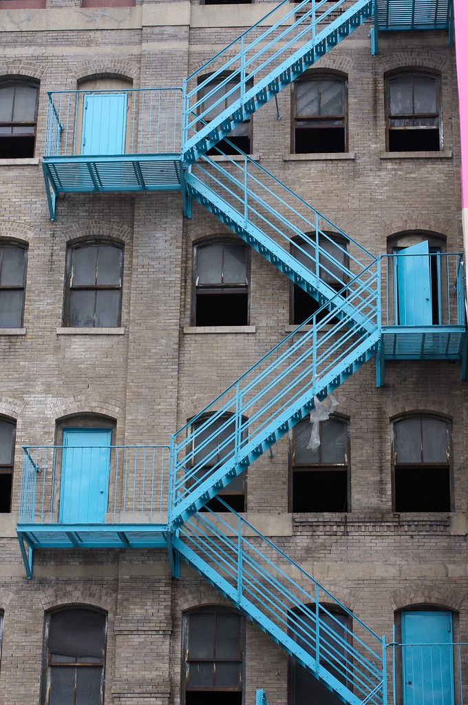 Blue Fire Stairs James Robertson Flickr