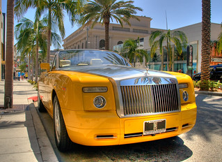 Bijan's Yellow Rolls Royce | by ~SteveBaron~