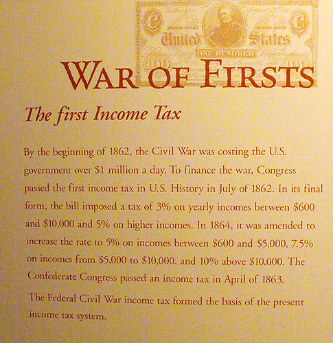 the role of taxes in the civil war Florida's role in the civil war: supplier of the confederacy background information settlers began to move to florida once it became a united states territory.