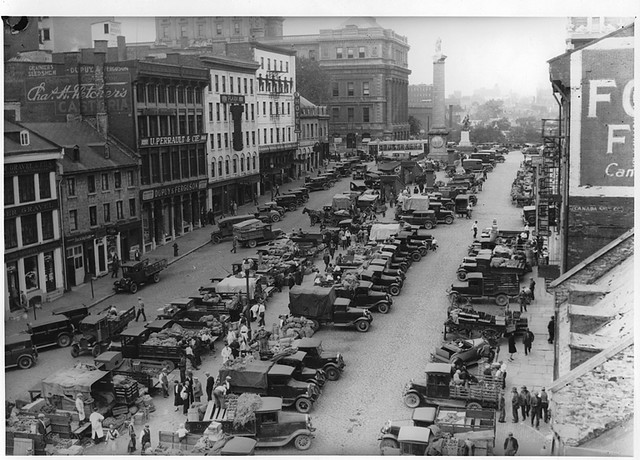 Market Jacques Cartier Square Montreal Qc About 1930