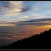 Puesta de sol en el Monte Kinabalu, Borneo...