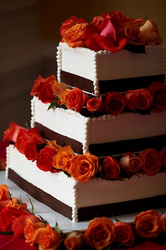 Red And Brown Wedding Cakes
