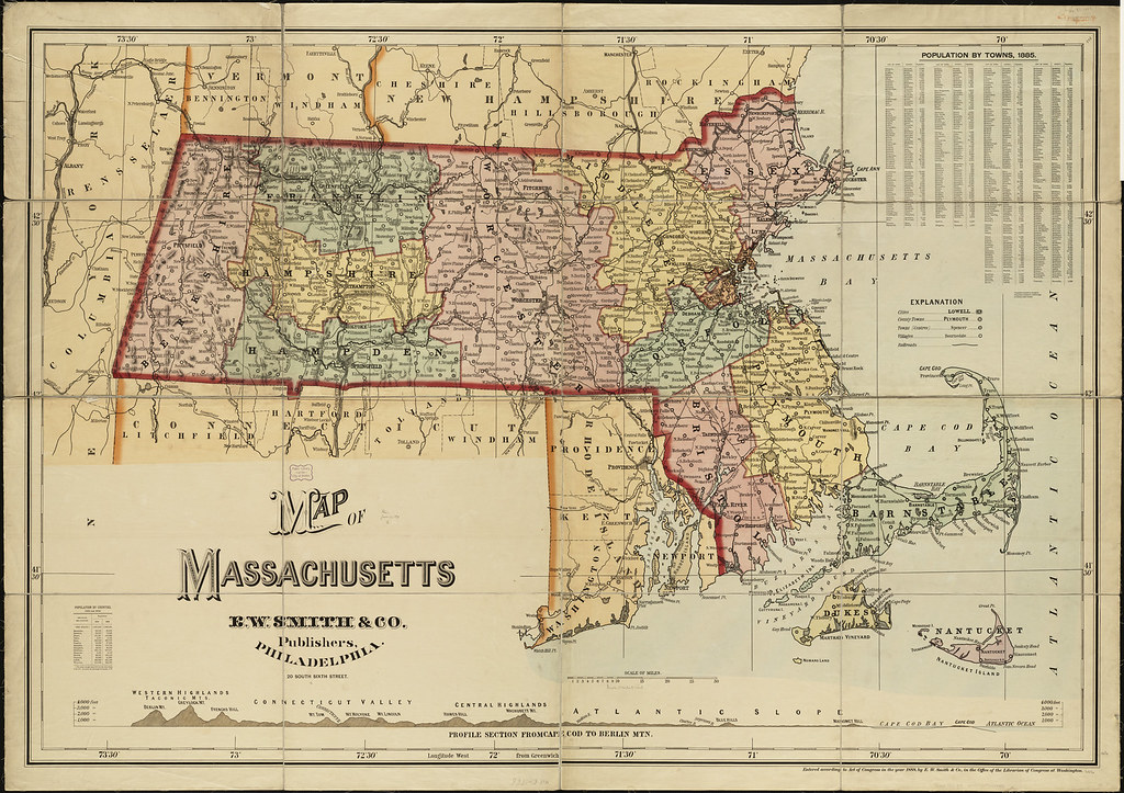 Map Of Massachusetts Zoom Into This Map At Maps Bpl Org
