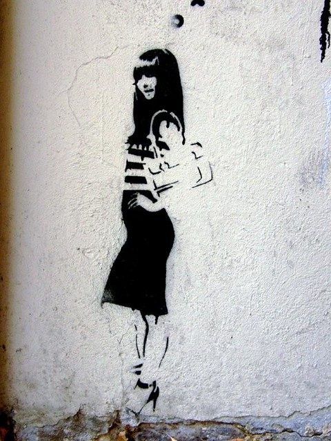 urban art stencil wall - photo #5
