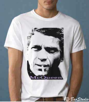 steve mcqueen pop art graphic t shirts by baostudio flickr. Black Bedroom Furniture Sets. Home Design Ideas
