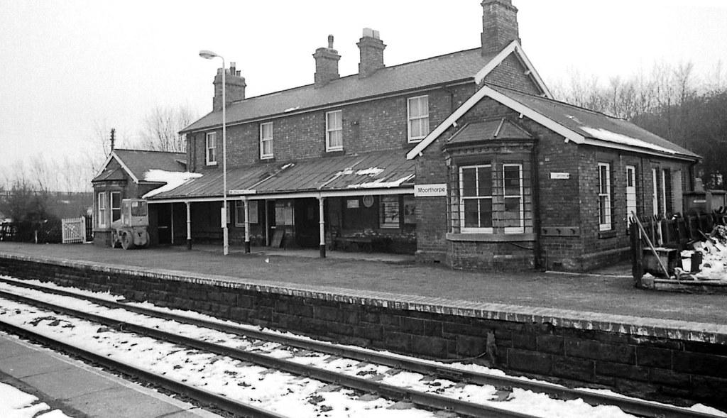 Moorthorpe Station West Yorkshire 19th March 1979 The