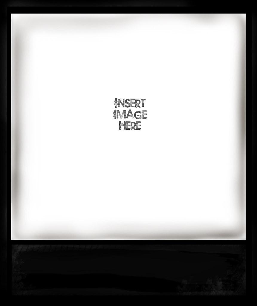 Black Polaroid Frame By Mia Please