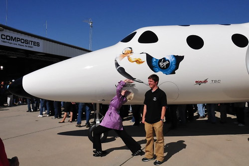 BBtv at Virgin Galactic launch, Mojave Spaceport, 07-28-08 | by xeni