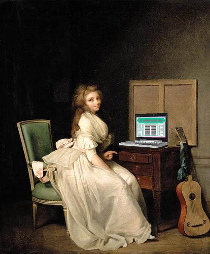 Lady Blogger Seated at Her Desk, after Louis Léopold Boilly | by Mike Licht, NotionsCapital.com