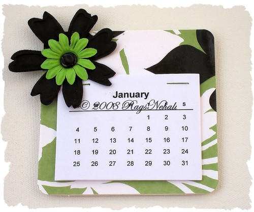 Green/Black Magnet Calendar | by ragsnehali