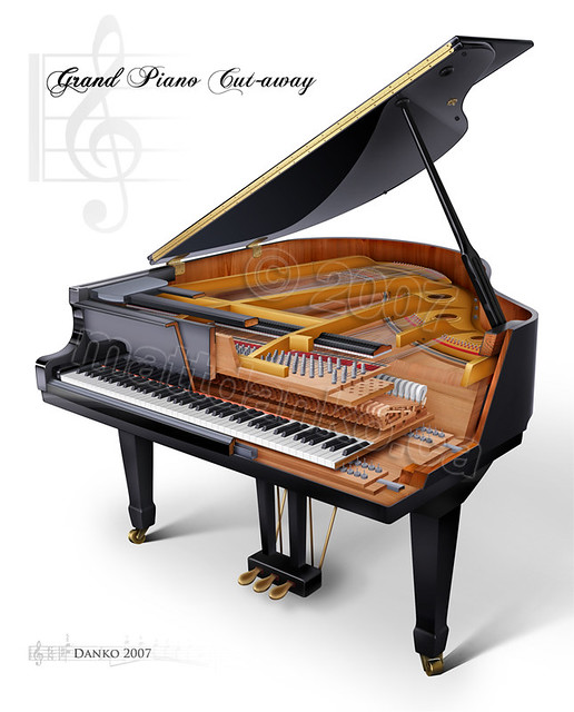 Grand Piano Cutaway Large Digital Media 2008 This