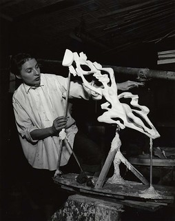 Gwen Lux, American sculptor and designer, 1908-1986, in her studio | by Smithsonian Institution