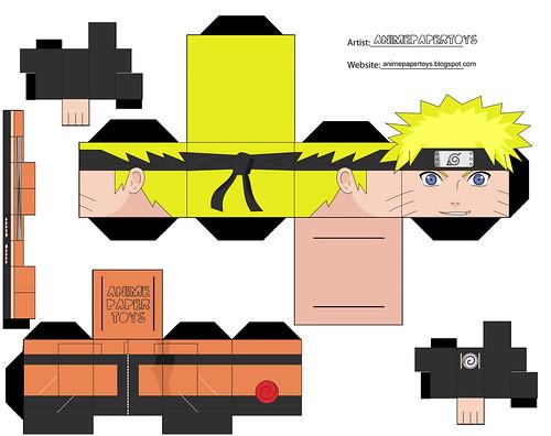 papercraft cubee cubeecraft NARUTO SHIPPUDEN ANIME PAPER ...