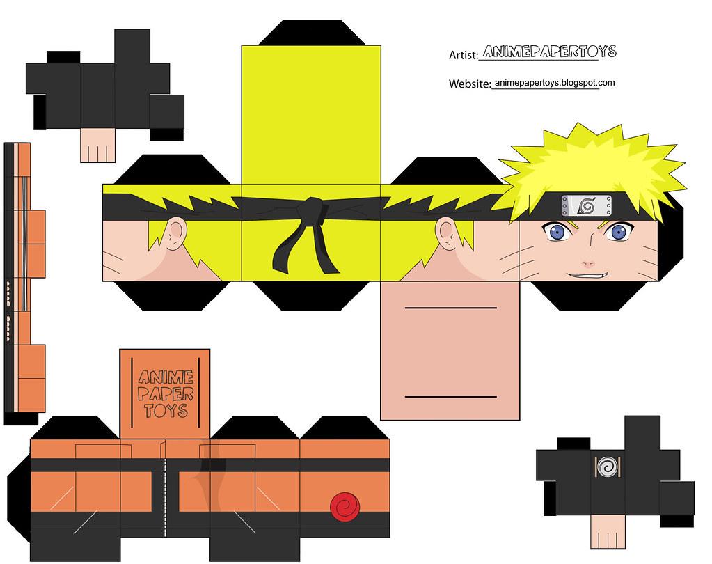 Papercraft Cubee Cubeecraft Naruto Shippuden Anime Paper T