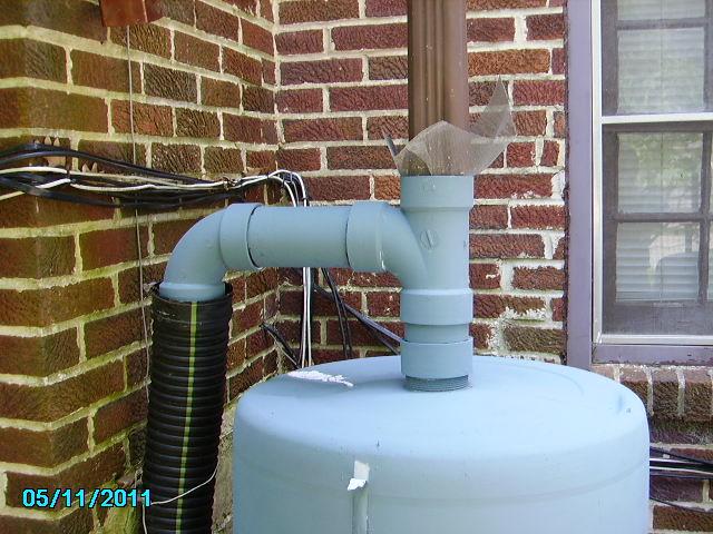 Rainbarrel And Overflow Rain Barrels Completely Fill Up T