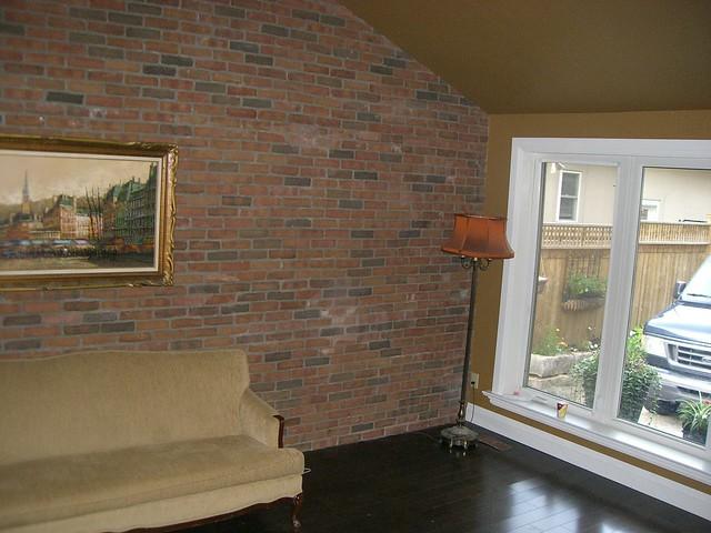 Sharon on interior brick veneer wall flickr photo for Interior brick veneer walls