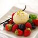 ice cream & berries