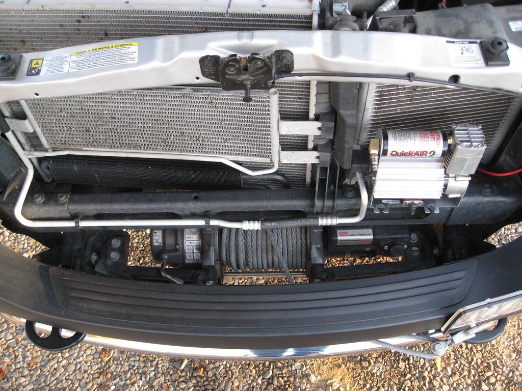 2001 Dodge Ram 2500 Bumper >> winch mount, above, hood open | Original equipment 12,000-po… | Flickr