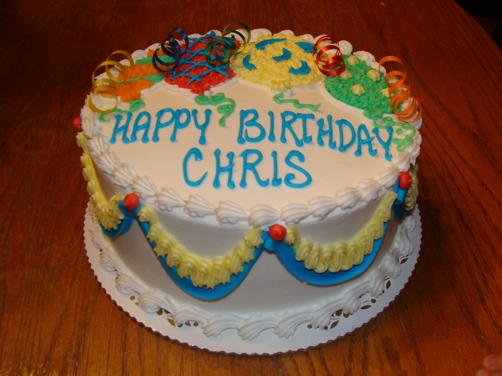 Happy Birthday Cake Bright Colors