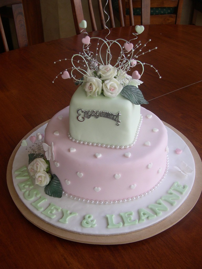 Cake Images For Engagement : Mossy s masterpiece Engagement cake First ever ...