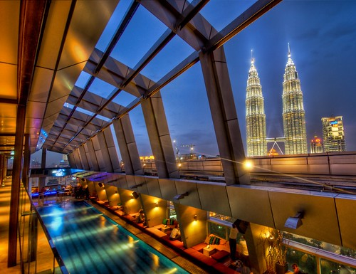 The Sky Bar in Kuala Lumpur with a view of Petronas | by Stuck in Customs