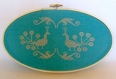 Peacock Cross Stitch | by whimsyandcharm
