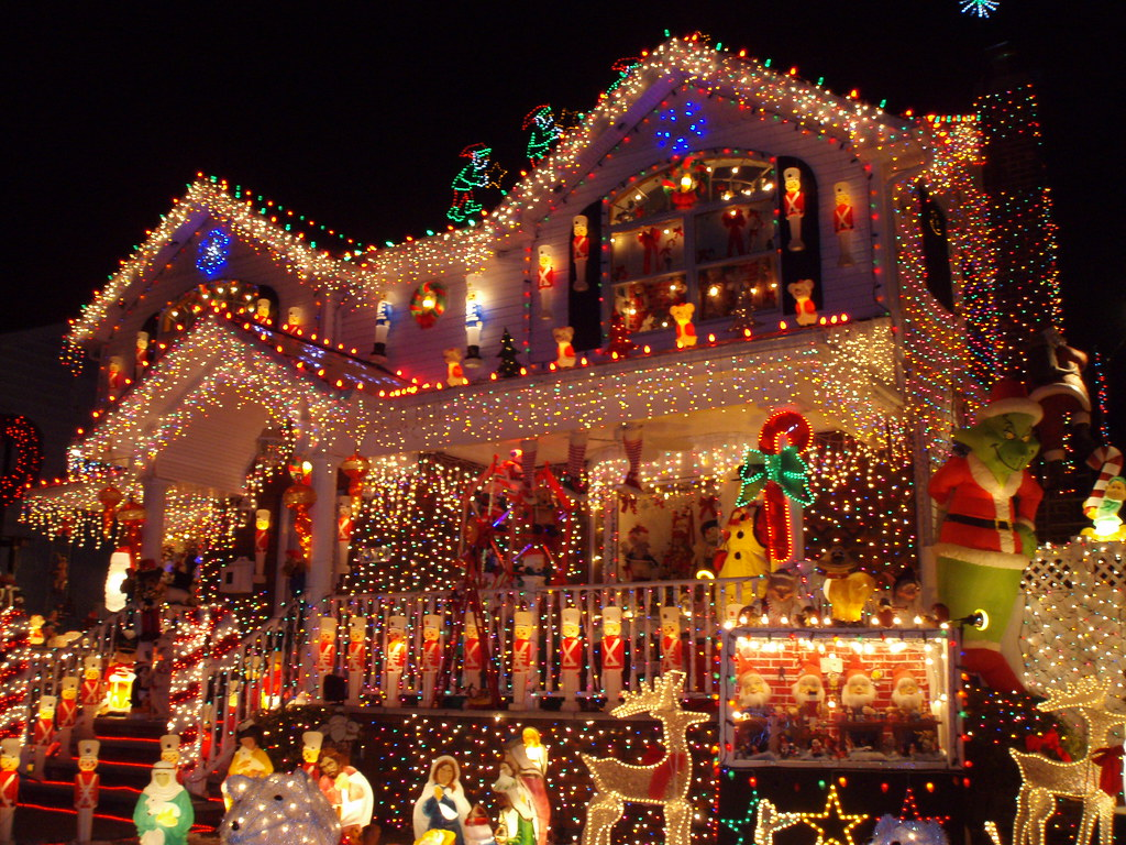 Christmas in Queens   Christmas lights and decorations on a …   Flickr