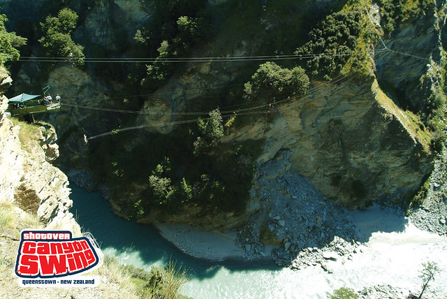 Shotover Canyon Swing Queenstown New Zealand Shotover C