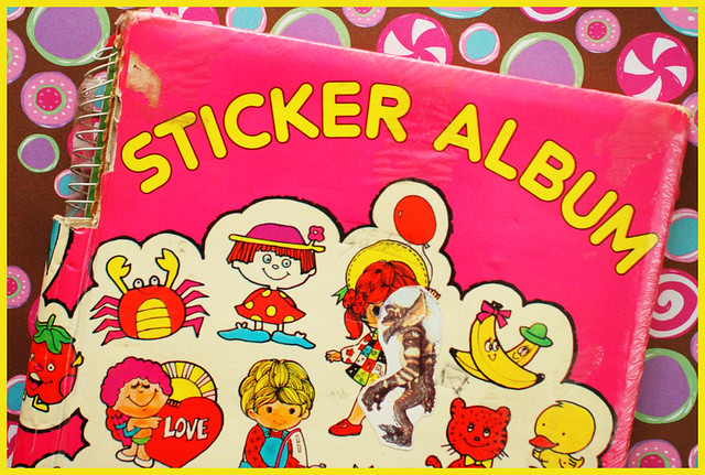 80s sticker album cover i 39 ve been collecting stickers ever flickr. Black Bedroom Furniture Sets. Home Design Ideas