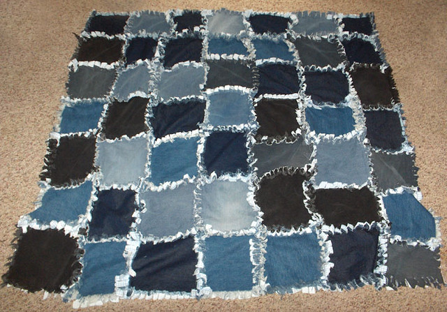 Blue Jean quilt | A rag quilt I made of old blue jeans, was … | Flickr : blue jean rag quilt - Adamdwight.com