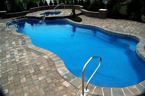 Caribbean 8b viking pools free form pool designs y for Pool designs yardville nj