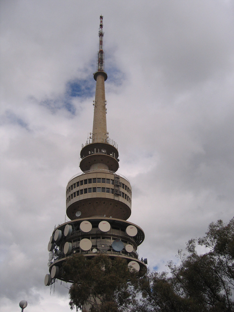 telstra tower telstra tower at canberra on camp straight. Black Bedroom Furniture Sets. Home Design Ideas