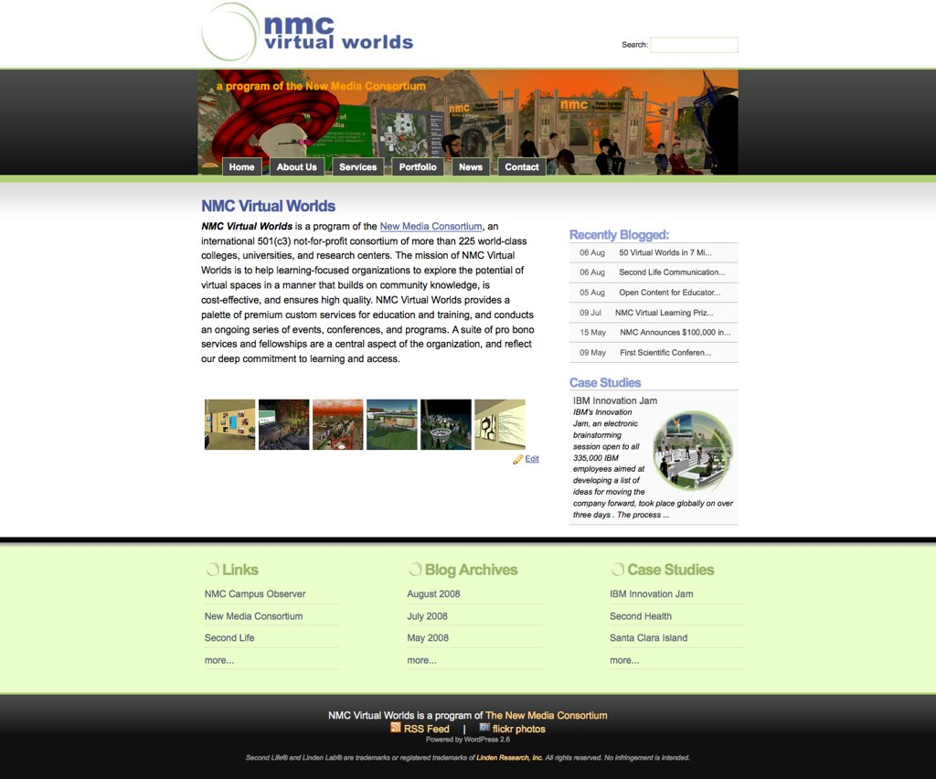 NMC Virtual Worlds - The NMC Virtual Worlds site was a step … - Flickr