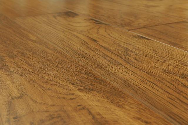 Handscraped Hardwood Flooring Kitchen