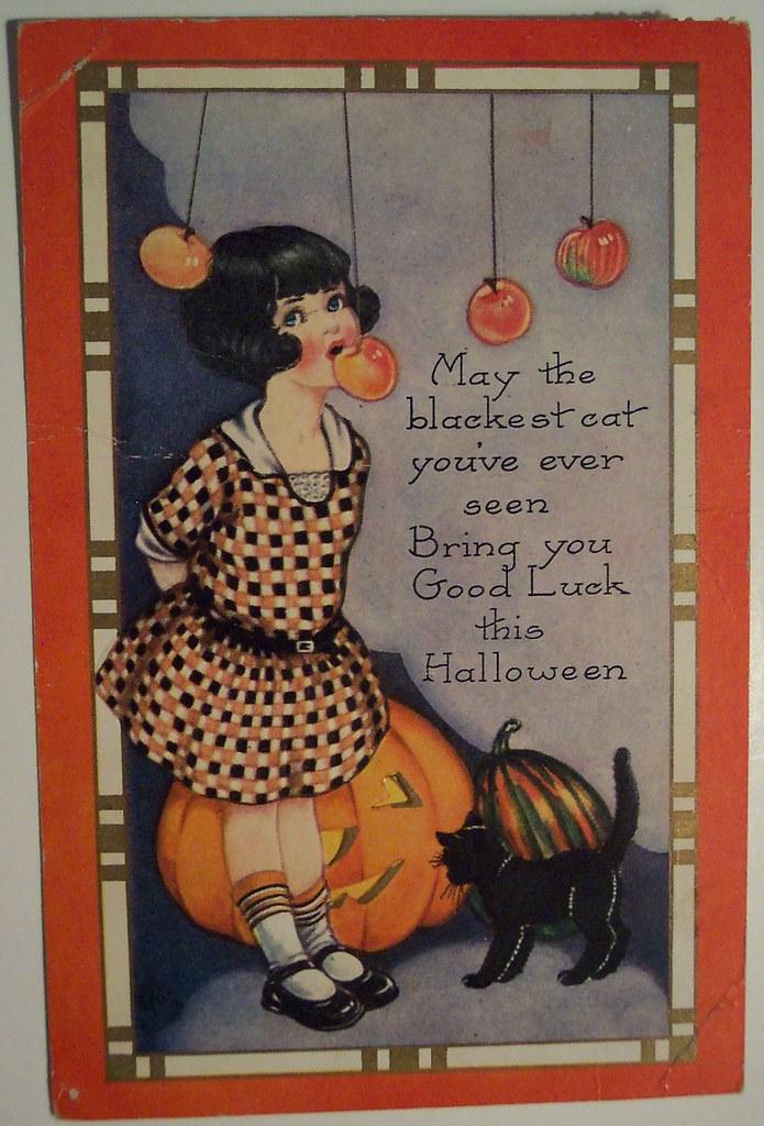 Vintage Halloween Postcard Dave Flickr